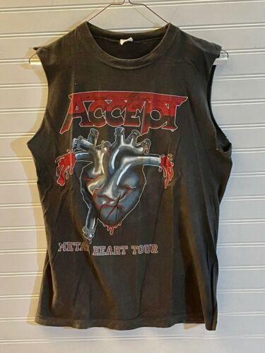 Vintage ACCEPT METAL HEART Tour 1985 Original T Shirt Size M