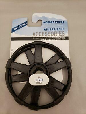 "Vintage NOS Clear Snowflake Star Cross Country XC Ski Pole Baskets 4/"" Diameter"