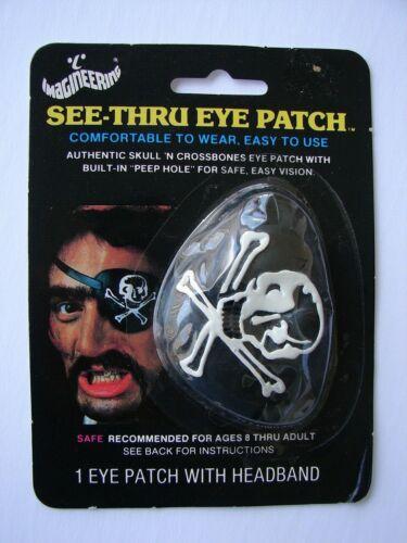 MOC VTG 1986 Imagineering Pirate Eye Patch Johnson Smith Catalog Co Halloween