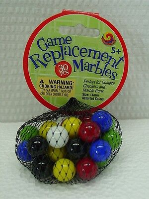 30 Mega Net Game Replacement Marbles-Chinese Checkers-14mm(1/2