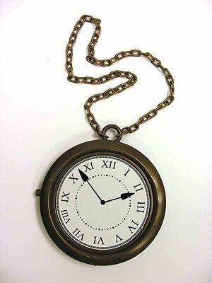 Rapper Clock Necklace Flava Flav White Rabbit Alice in Wonderland Accessory