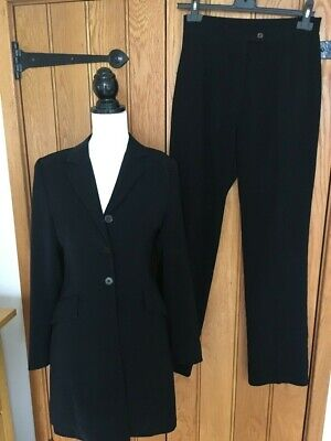 Sasch Italian Black Ladies Trouser Suit - Size 10
