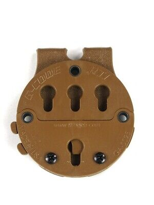 G-Code RTI Holster Battle Belt Molle Mounting Platform Adapter System Coyote Tan