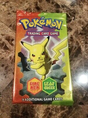 2004 POKEMON EX FIRE RED LEAF GREEN BOOSTER PACK, NEW / SEALED, PIKACHU ART