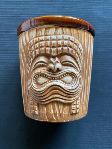 Vintage Mark Thomas Outrigger Mug - Three Face Bucket Tiki