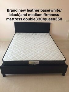 Brand new medium firm mattress from$100,leather base from $180 Carlton Melbourne City Preview