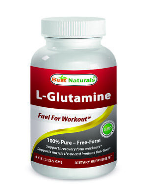 L-Glutamine Powder 4 OZ by Best Naturals - 100% Pure - Free Form - Fuel for Work