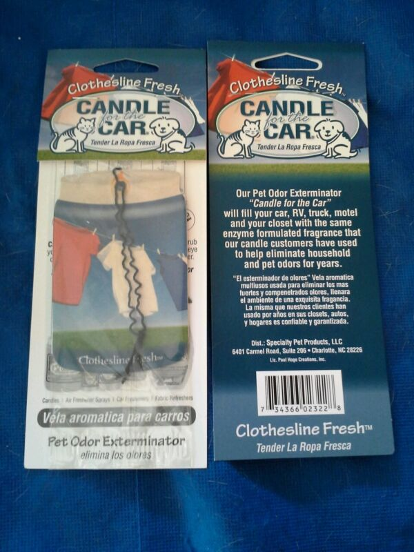 "Pet Odor Exterminator 2 ""Candles for the Car."" Assorted scents. Made in USA!"
