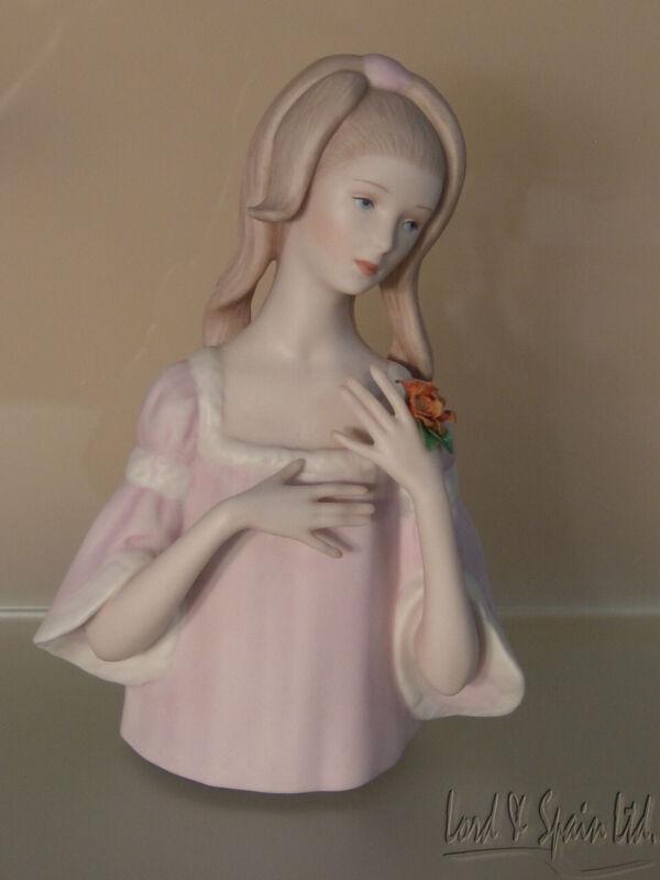 Laszlo Ispanky ELIZABETH Young Woman W/Flowers Figurine