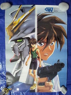"Mobile Suit Gundam Wing Heero Yuy Poster Banner Anime Mecha RARE 16.5""x23.5"""