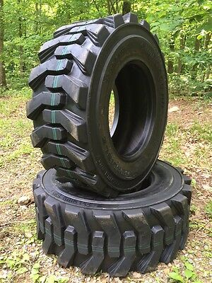 2 New Heavy Duty Carlisle Guard Dog 12-16.5 Usa Skid Steer Tires 12x16.5 -12 Ply