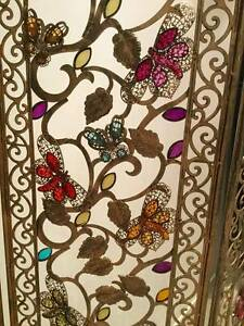 3 panel gold gilded jewelled butterfly room divider Yarraville Maribyrnong Area Preview