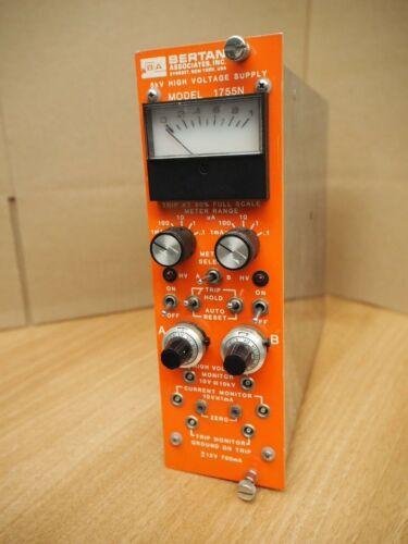 BERTAN 10KV HIGH VOLTAGE 1755N NIM MODULE PLUGIN wire chamber radiation detector
