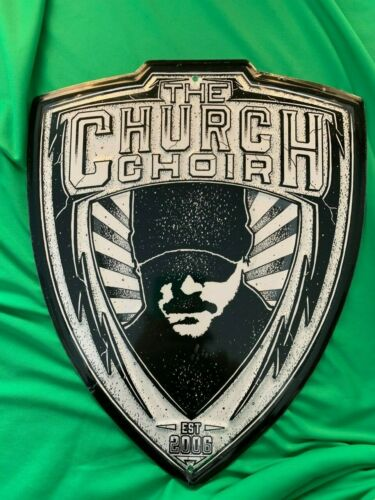ERIC CHURCH 14x11 CHURCH CHOIR OFFICIAL BADGE ALUMINUM WALL SIGN