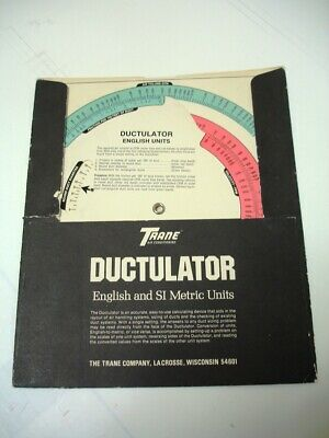 Trane Ductulator Vinatge 1976 Issue - Free Shipping