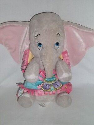 "DISNEY BABIES 11"" Plush DUMBO Elephant BLUE BLANKET Pink Stuffed Animal Toy Doll"