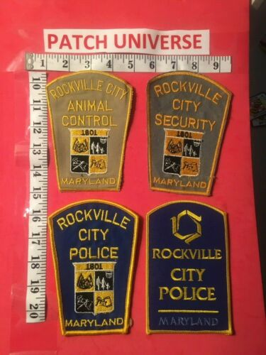LOT OF 4 DIFFERENT ROCKVILLE MD  POLICE SHOULDER PATCHES   O125