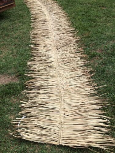 "Commercial Grade Palm Grass Thatch 30""x12ft  Ridge Roof Cap For Tiki Bar Hut"