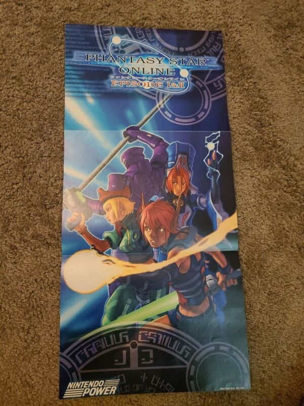 Phantasy Star Online Print Ad/Poster Art Nintendo Gamecube Nintendo Power
