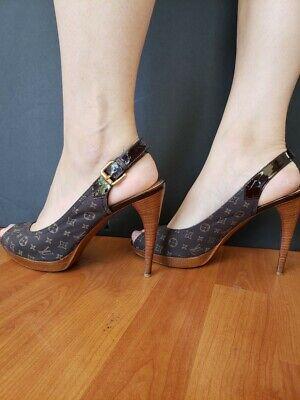 Shoes Louis Vuitton Woman Authentic and Original Heel 12 Cm