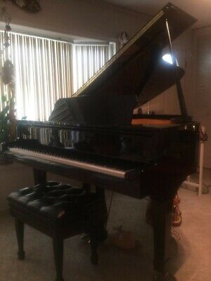 Classic Black Satin Pleyel Grand Piano — Top Condition! Black Classic Grand Piano
