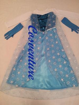 *SALE* Divine Elsa Dress Costume with GLOVES Book Week Christmas Frozen PARTY... - Elsa Costume Sale