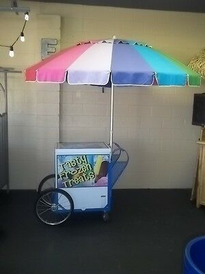 New Roadrunner Vendor Ice Cream Push Cart Wumbrella Custom Graphics Hd Cart