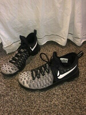 30 NIKE KD 9 IX Kevin Durant Mens 10-12 Shoes Oreo Black Mic Drop 843392 010