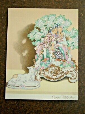 Vintage RMS Queen Mary Luncheon Menu April 15 1949 VGC Cunard White Star Line