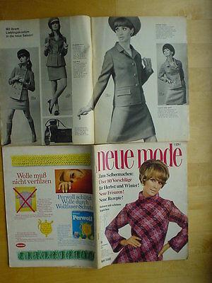 Neue Mode 67/09 w/Burda Nachtwäsche Herst+Winter Kostüm Stricken Handarbeit - 60er Mode Kostüm