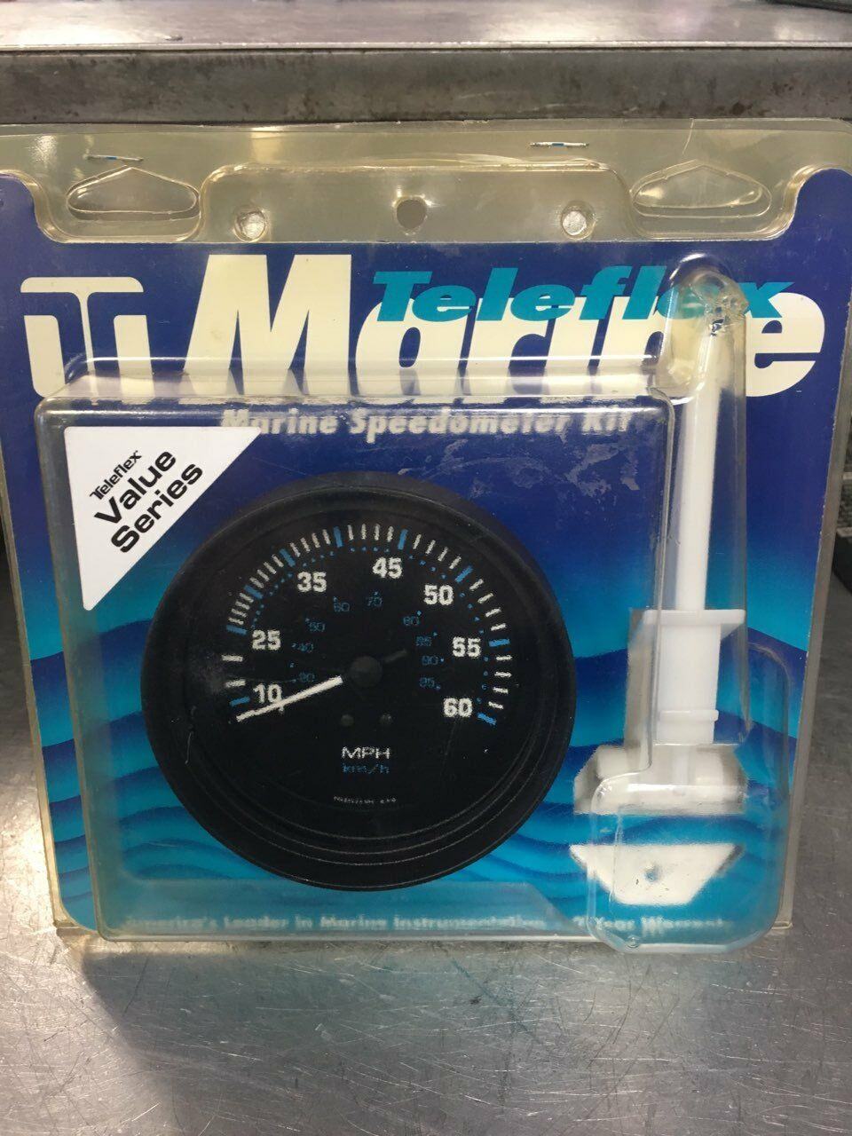 TELEFLEX MARINE SPEEDO KIT #56929P BLACK 10-60 MPH Includes Speedo Gauge/Pickup