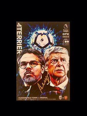 ARSENE WENGER SIGNED FINAL GAME PROGRAMME HUDDERSFIELD V ARSENAL RARE