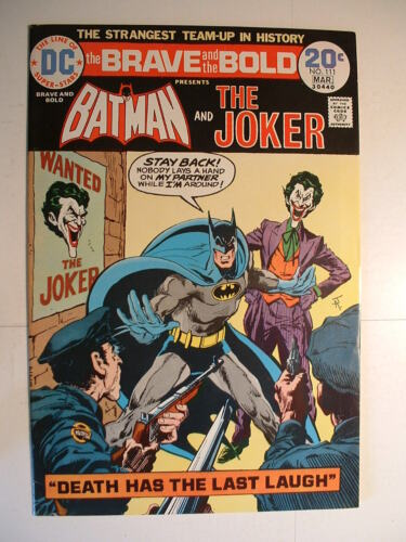 Brave and the Bold #111 - DC 1974 - Batman and the Joker: BFFs!  Not!