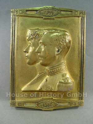 65052, Relief des Königspaar König Albert I von Belgien und Gattin Elisabeth
