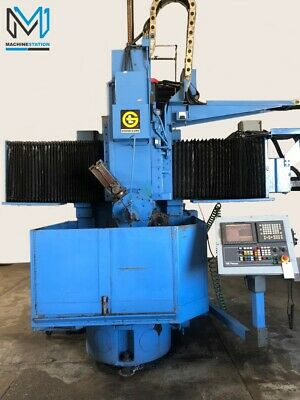 Giddings Lewis 48 Cnc Vertical Boring Mill Vtl Lathe Fanuc 18it- Gl Bullard