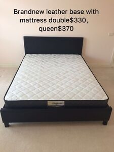 BRAND NEW MATTRESS S110D160Q180 LEATHER BASESD180Q200can delivery Carlton Melbourne City Preview