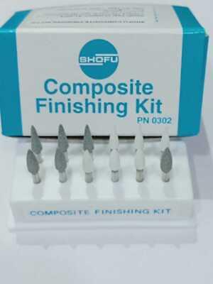 Dental Shofu Composite Finishing And Polishing Kit 12 Mounted Points