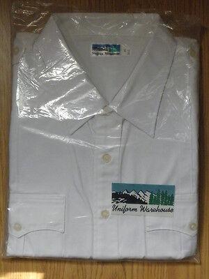 New  Mens Uniform Warehouse Button Down S Sleeve White Shirt Sz S  14 14 5