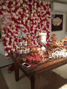 Flower Wall hire $220 - Red, white & pink flowers Middleton Grange Liverpool Area Preview