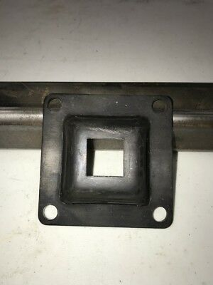 1 X 1 Steel Square Tubing Flange W4 Bolt Holes Raw
