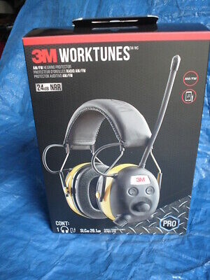 3M WorkTunes Pro AM/FM Radio Hearing Protector Personal
