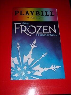 FROZEN,  2018 Pride Playbill Broadway Musical
