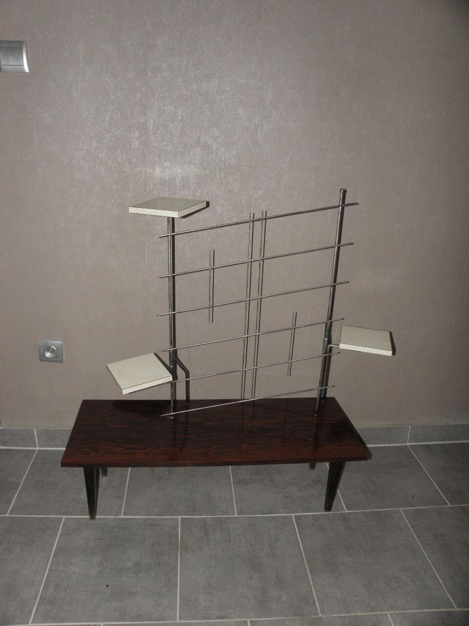 table sellette gu ridon porte plante formica scandinave vintage design 50 loft eur 260 00. Black Bedroom Furniture Sets. Home Design Ideas