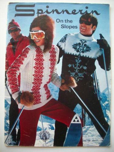 Vintage On the Slopes ski sweaters knit knitting patterns