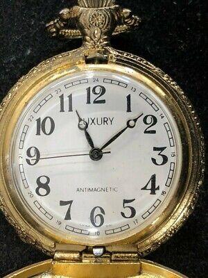 Vintage 'Luxury' Mechanical Wind-Up 17 Jewels Pocket Watch WORKS