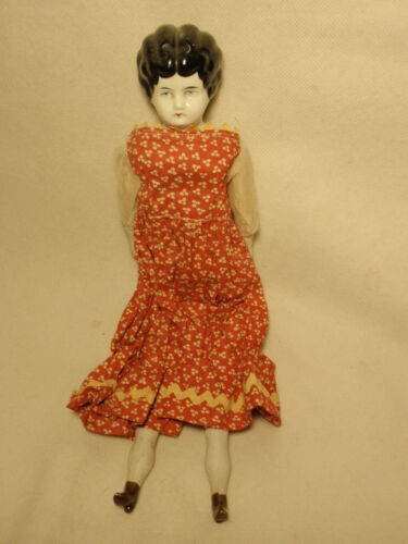 Vtg German Orben Knabe Reproduction China Head Doll Sawdust Body *As-Is*