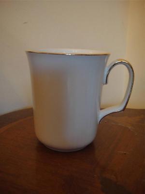 Royal Albert Val D'or White Gold Mugs Set of 2  White Gold  New