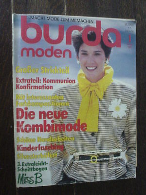 80er Mode Kinder (BURDA MODE 85/01 Kommunion Konfirmation Kinderfasching Modezeitschrift 80er KULT)