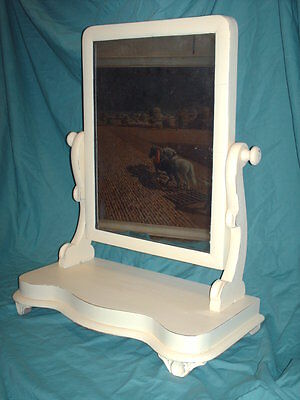 VICTORIAN SHABBY CHIC   DRESSING TABLE/ TOILET MIRROR