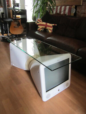 Apple eMac iMac Coffee Table Side/Occasional/Lamp Table Upcycled Recycled Repurp